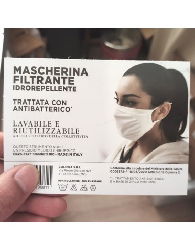 MASCHERINA FILTRANTE BIANCA